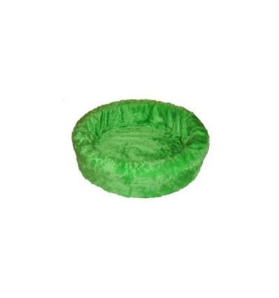 Hundebett plüsch einfarbig grün