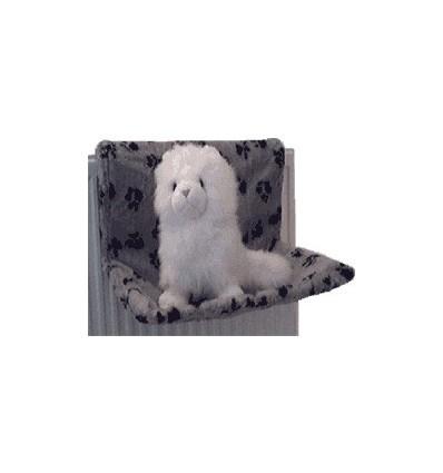 Katzenhängematte aus Plüsch (Pfötchendesign)