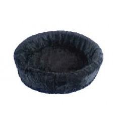 Hundebett plüsch einfarbig grau
