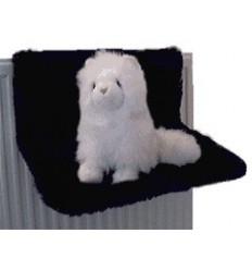 Katzenhängematte aus Plüsch (schwarz)