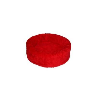 Hundebett plüsch einfarbig rot