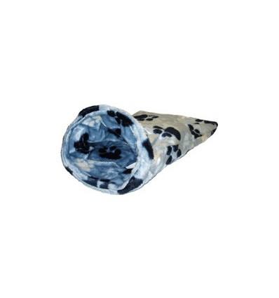 Raschelsack blau mit Pfötchendesign
