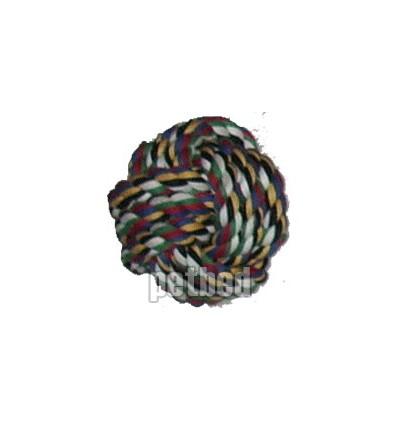 Hundespielzeug Kauspielzeug Knotenball Baumwolle bunt